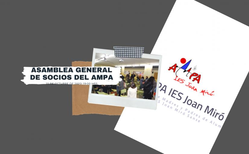 CONVOCATORIA ASAMBLEA GENERAL SOCIOS CURSO 2020/2021